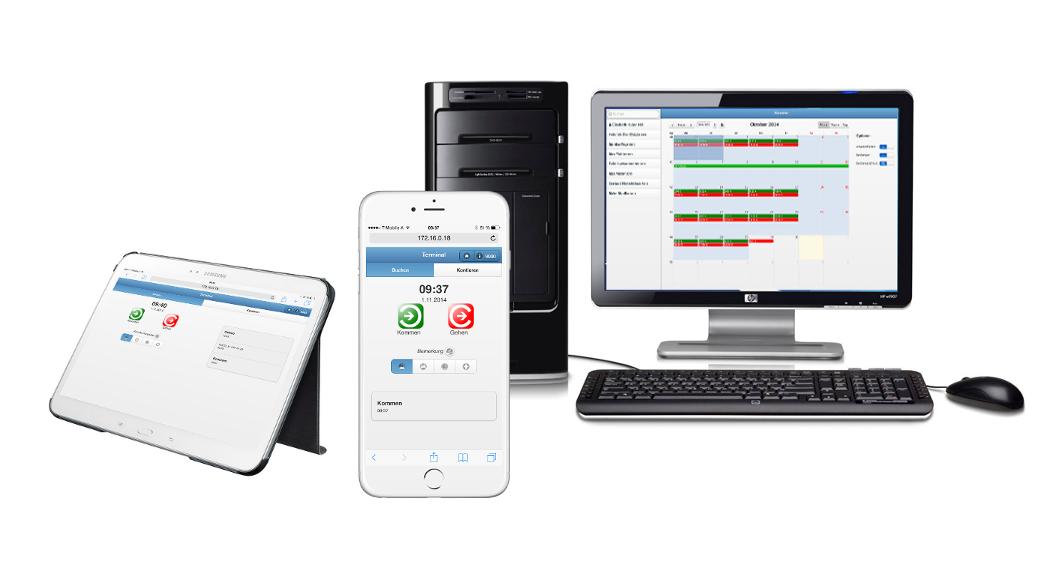 SIS-evoApps - Zeiterfassung auf Desktop, Tablett, Smartphone