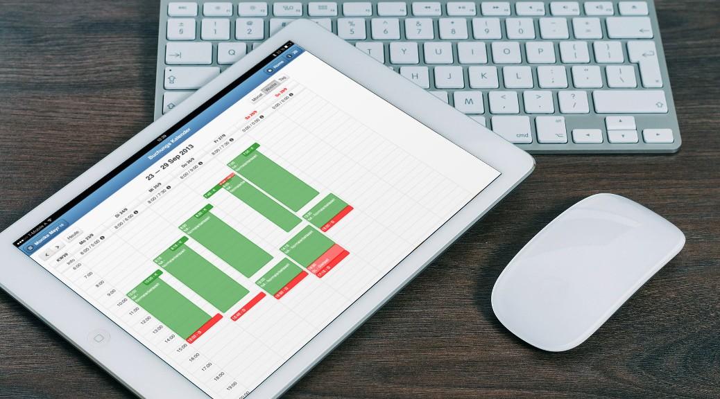 Zeiterfassung Arbeitszeiterfassung Tablet Projektzeiterfassung