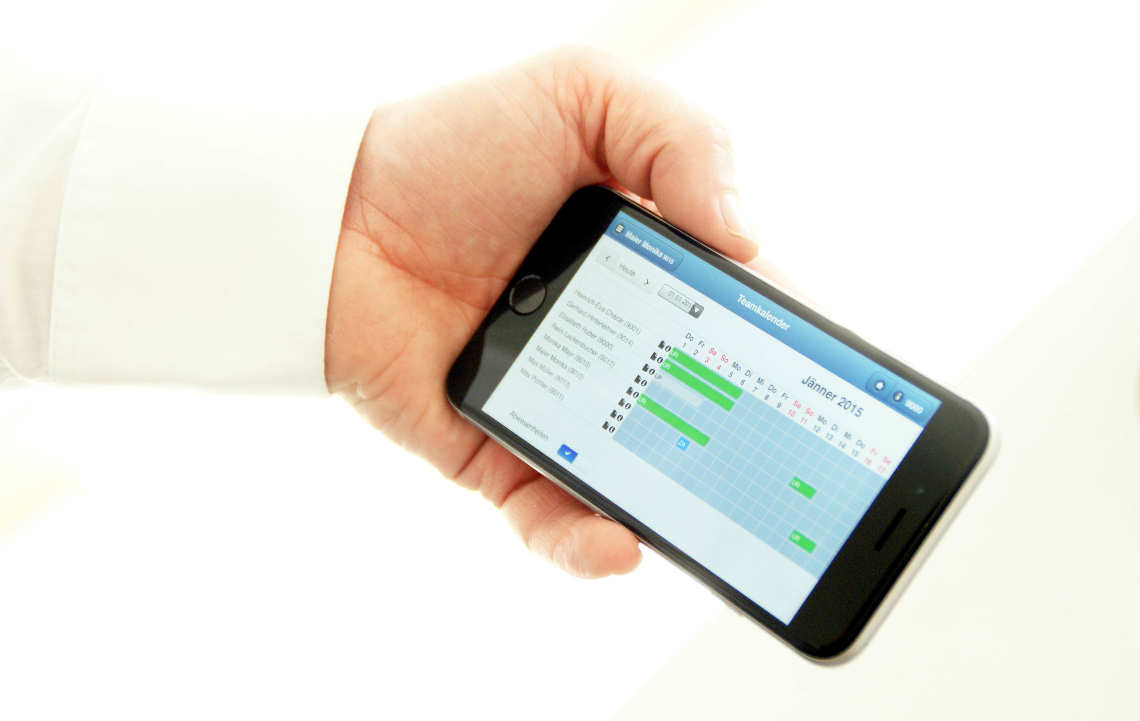 Mobile Zeiterfassung Personalzeiterfassung auf evoApps