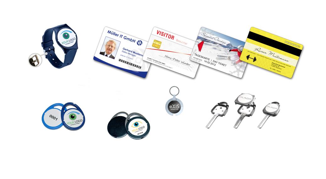 Zutrittskontrolle - Karten, Ausweise und Tags