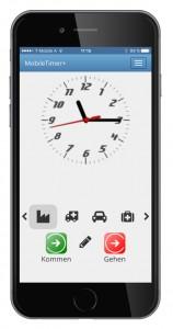 mobile Zeiterfassung Zeitbuchung Kommen Gehen