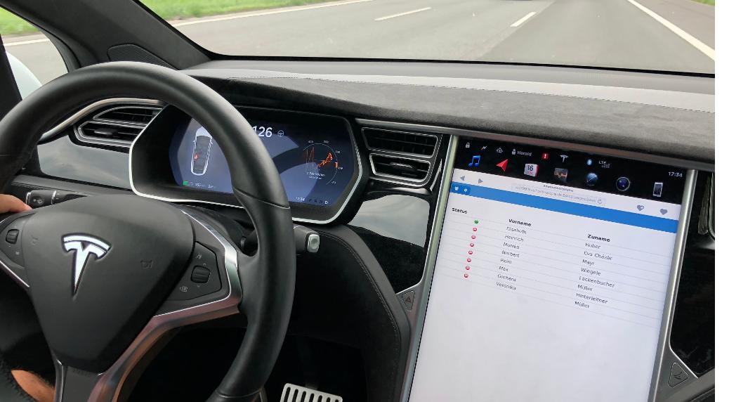 An-/Abwesende im Tesla Model S